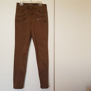 Style & Co Denim Brown Zipper Skinny Jeans size 4
